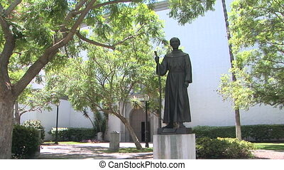 Father Serra - Statue of Father Junipero Serra in front of...