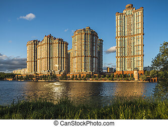 "Residential complex ""Scarlet Sails"" in Moscow."