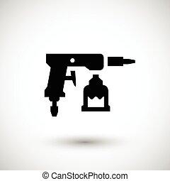 Pintura, arma de fuego, icono,