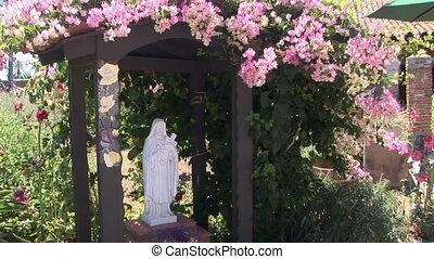 Statue of Mary - Mother Mary in the Historic Mission of San...