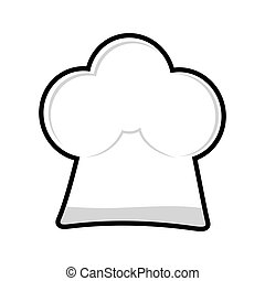 chefs hat icon Menu design vector graphic - Organic and...
