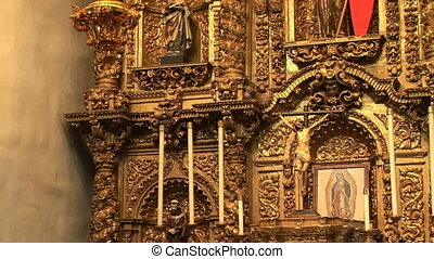 Baroque Retablo - Serra Chapel in San Juan Capistrano
