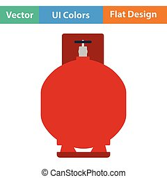 Gas cylinder icon. Flat design. Vector illustration.