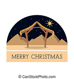 Hut icon. Merry Christmas design. Vector graphic