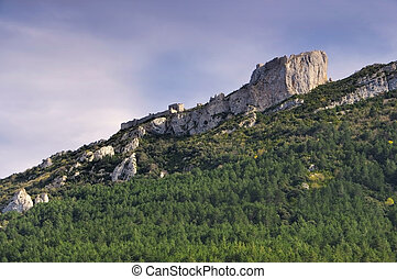castle Peyrepertuse in France - cathare castle Peyrepertuse...