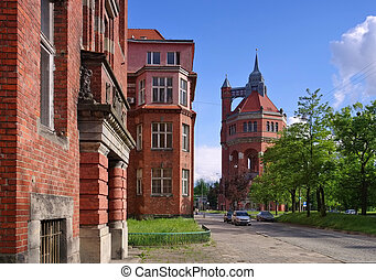 the Wroclaw water tower in Poland