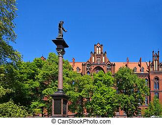 Breslau Seminarium Duchowne and monument