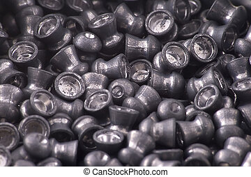 Pellet - Numerous air gun pellets in close up