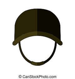 helmet icon. Armed forces design. graphic vector - Armed...