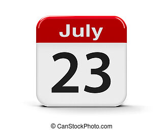 23rd July - Calendar web button - The Twenty Third of July -...