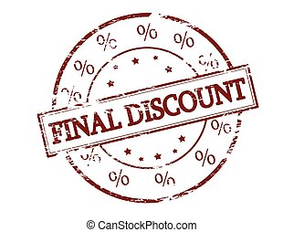 Final discount - Rubber stamp with text final discount...