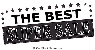 The best super sale - Rubber stamp with text the best super...