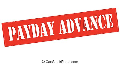 Payday advance - Rubber stamp with text payday advance...