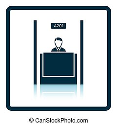 Bank clerk icon Shadow reflection design Vector illustration...