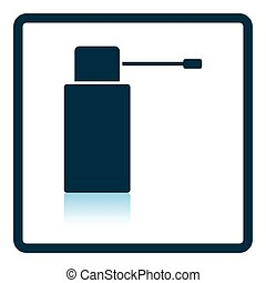 Inhalator icon. Shadow reflection design. Vector...