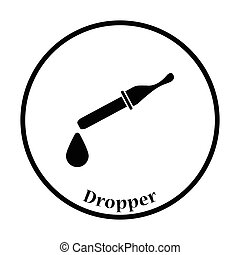 Dropper icon Thin circle design Vector illustration