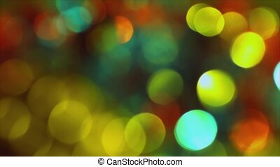 4K Distant Out Of Focus Bokeh Colorful On Flicker