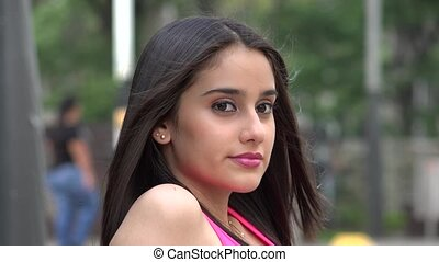 Content Young Female Teenager