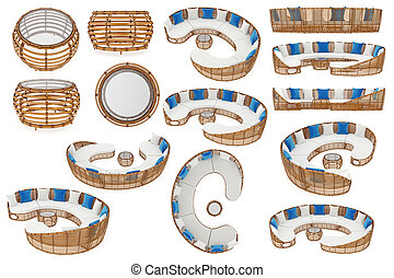 Set patio furniture - Rattan set patio furnitures,...