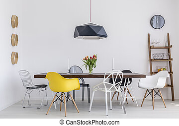 Boring dining room? No way! - Shot of a creative dining room...