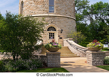 Historic Water Tower and Entrance - western springs historic...