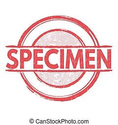 Specimen stamp - Specimen grunge rubber stamp on white...