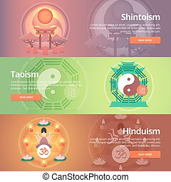Shintoism. Japanese religion. Taoism. Hinduism. Buddhistic...