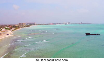 View from the westcoast at Aruba