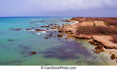 Aerial from the west coast on Aruba - Aerial from the west...