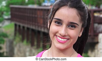 Beautiful Smiling Teen Girl