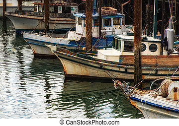 Fishing boats in Fishermans Wharf