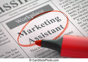 Marketing Assistant Join Our Team - Newspaper with...