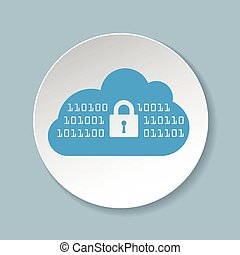 Vector icon for cloud security