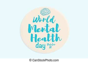 World mental health day banner