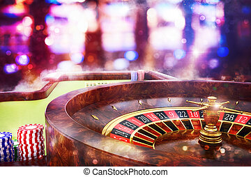 3D Rendering casino roulette - 3D Rendering of roulette in a...