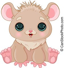 Cute Hamster - Illustration of very cute hamster