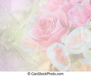 Colourful fantasy Ice with Rose soft pink blur .