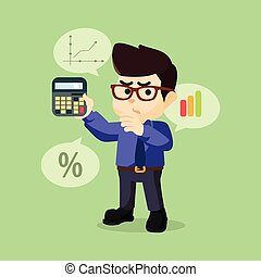 A businessman presentation - A businessman being Counting...