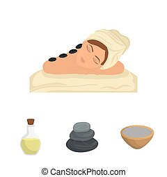 Woman cartoon. Spa center design. Vector graphic - Spa...