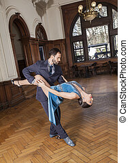 Dancer Bending Backwards While Supported By Man - Full...