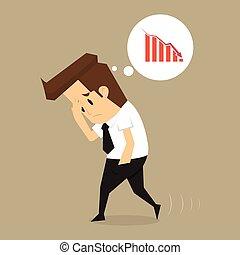 Businessman fail vector
