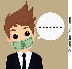 businessman hush moneyvector