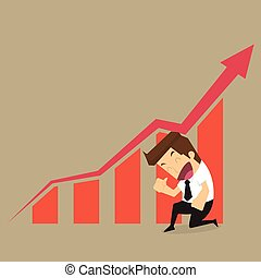 businessman arrow growing chart.vector
