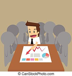 businessman team meeting.vector