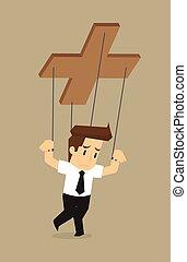 businessman puppet
