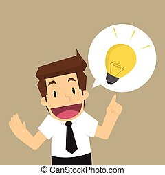 businessman offering the idea. vector
