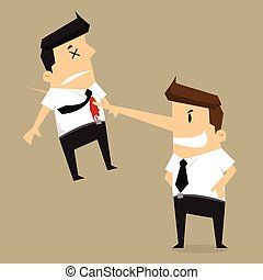 kill colleague the end of businessman long nose - kill...