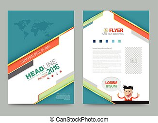 template - Vector cover design template simply and elegant...