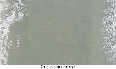 Slow motion video of sea waves from high above clip