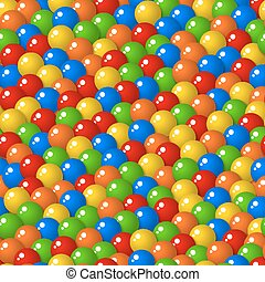 Gumball candies seamless pattern - Colorful pattern with a...